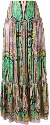 Etro Abstract Print Peasant Skirt