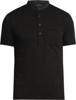 Lanvin Mandarin-collar cotton polo shirt