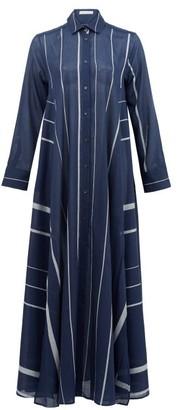 Palmer Harding Palmer//harding - Casablanca Striped Cotton-poplin Shirt Dress - Navy Stripe