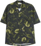 Vince Dark Green Leaf-print Shirt