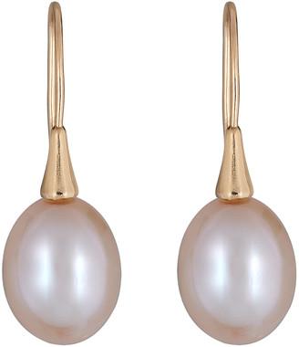 BELPEARL 18K 7.5Mm Freshwater Pearl Earrings