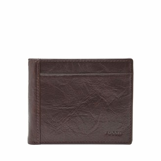 Fossil Men's Neel Leather Large Coin Pocket Bifold Wallet