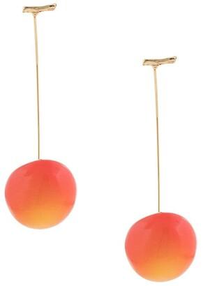 E.m. Cherry Pierced Earrings