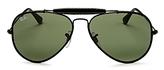 Ray-Ban Craft Brow Bar Aviator Sunglasses, 58mm