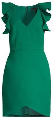 BCBGMAXAZRIA Flutter-Sleeve Cocktail Dress