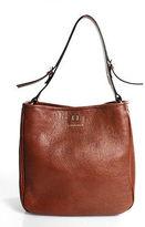 Coccinelle Brown Leather Magnetic Popper 2 Pocket Shoulder Bag Size Small