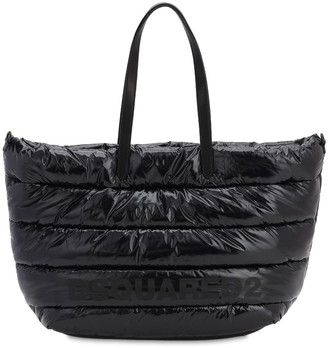DSQUARED2 MISS LOGO VINYL TOTE BAG