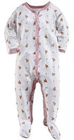 Ralph Lauren Baby Girls Newborn Bear Printed Footed Coverall