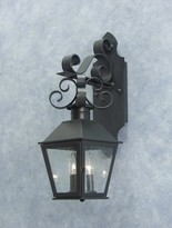 The Well Appointed House Cadence Exterior Bracket Lantern-Available in Six Different Finishes