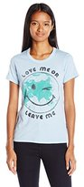 "Junk Food Clothing Women's Baby Doll Short Sleeve Tee ""Love Me OR Leave Me"""