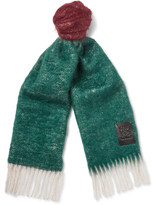 Loewe - Colour-block Wool And Mohair-blend Scarf