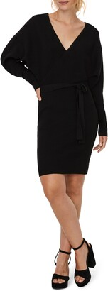 Vero Moda Tie Waist Long Sleeve Sweater Dress