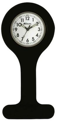 Ravel Black Silicone Nurses Fob Watch R1103.4 (Infection Control)
