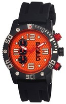 Breed Mens Grand Prix Watch with Silicone Strap