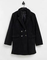 Thumbnail for your product : Brave Soul kyrati borg coat in black