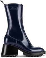 Chloé Betty Boots in Navy Ink | FWRD