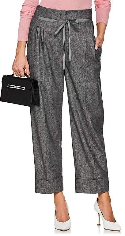 Giorgio Armani Women's Wool-Blend Drawstring Trousers