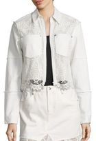 McQ by Alexander McQueen Hybrid Lace Bomber Jacket