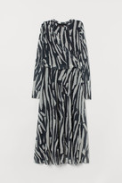 H&M Calf-length Mesh Dress - White