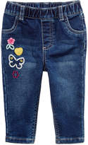 First Impressions Embroidered Patches Pull-On Jeans, Baby Girls (0-24 months), Only at Macy's
