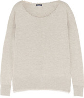 Splendid Frayed Marled Knitted Sweater