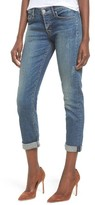 Hudson Women's Crop Riley Relaxed Straight Leg Jeans