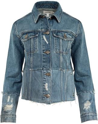 Frame Le Original Jacket Crop Mended