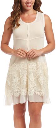 Pretty Angel Women's Casual Dresses CARAMEL(CA) - Caramel Lace Linen-Blend Sleeveless Dress - Women