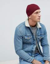 Jack & Jones Beanie In Rib Cotton Mix
