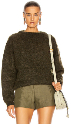 Acne Studios Dramatic Mohair Sweater in Olive Green | FWRD