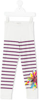 Junior Gaultier striped leggings - kids - Cotton/Spandex/Elastane - 4 yrs