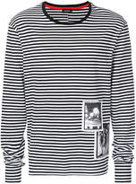 Diesel striped patch detail T-shirt