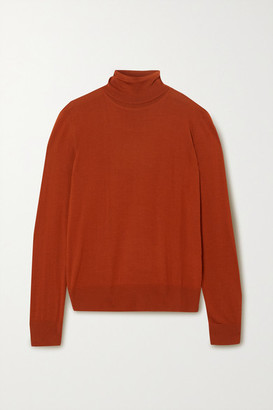 Dolce & Gabbana Wool Turtleneck Sweater - Orange