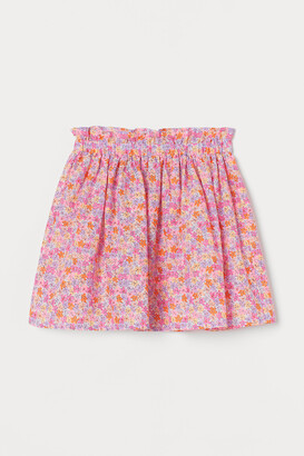 H&M Patterned cotton skirt