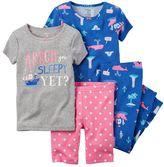 Carter's Girls 4-12 Printed Bow Pajama Set