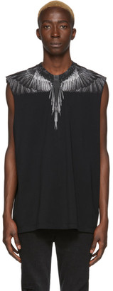 Marcelo Burlon County of Milan Black Wings Sleeveless T-Shirt