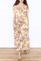Billabong Yellow Floral Midi Dress