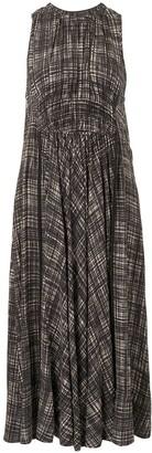 Proenza Schouler White Label Check-Print Drape-Detail Dress