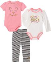 Juicy Couture 3Pc Bodysuits & Pant Set