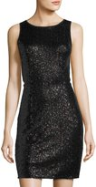 Kensie Sleeveless Sequined Cutout Dress, Black