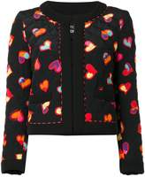 Moschino hearts print open jacket