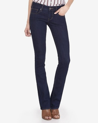 Express Low Rise Barely Boot Jeans
