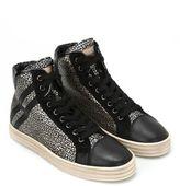Hogan R182 Metallic Leather Sneakers