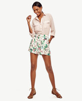 Ann Taylor Petite Bird of Paradise Pleated Shorts