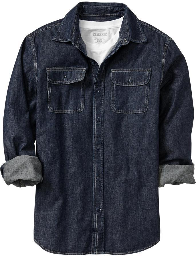 Old Navy Men's Denim Shirts
