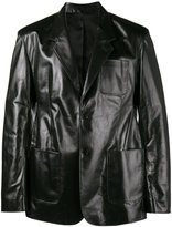 Balenciaga single breasted jacket - men - Calf Leather/Cupro - 44
