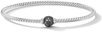 David Yurman 18kt white gold Solari Center Station black diamond bangle
