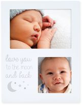 Pearhead 2-Photo Moon and Back Collage Picture Frame in White