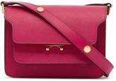 Marni pink small trunk leather shoulder bag