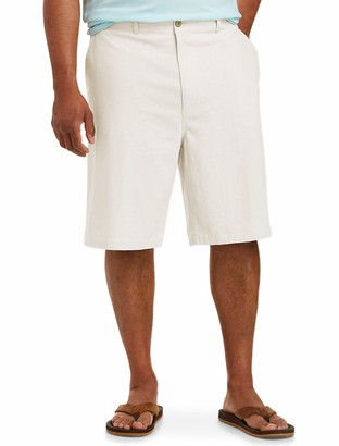 "Amazon Essentials Men's Big & Tall Linen Blend 11"" Short fit by DXL"